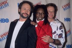 Billy Crystal, Whoopi Goldberg and Robin Williams attend the HBO Television Special 'Comic Relief VIII' to Benefit America's Homeless on June 14, 1998 at Radio City Music Hall in New York City. CREDIT: RON GALELLA