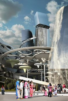 coop himmelb(l)au envisions city of the future for expo 2017