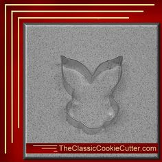 This is a 3.5 Bunny Face. It is 1 inch high. This cookie cutter is $1.50. Don't forget to like us on Facebook. #CookieCutters #kitchen #Bake #Cookies #Shape #Mold #Dessert #Sugar #TheClassicCookieCutter.com Animal Cookie Cutters, Easter Cookie Cutters, Halloween Cookie Cutters, Christmas Cookie Cutters, Easter Cookies, Christmas Cookies, Christmas Tree, Leaf Cookies, Flower Cookies