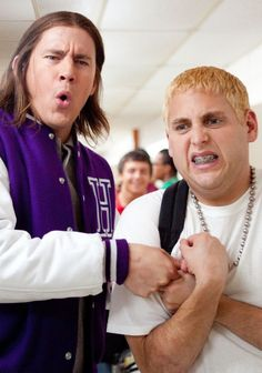 21 jump street.. Funniest movie I've seen in a while! Wonder who else thought in this part of the movie Jonah Hill looked like someone we went to school with lol!