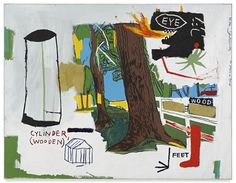 View WOOD By Jean MichelBasquiat; oil, wax crayon, acrylic and silkscreen ink on canvas; Access more artwork lots and estimated & realized auction prices on MutualArt. Jean Michel Basquiat Art, Modern Art, Contemporary Art, Art Advisor, New York Art, Andy Warhol, Magazine Art, American Artists, Pop Art