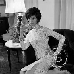 60s qipao dress Asian cheongsam vintage fashion style print ad model magazine