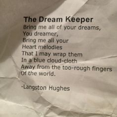 Langston Hughes, The Dream Keeper Poetry Quotes, Words Quotes, Wise Words, Me Quotes, Funny Quotes, Qoutes, Pretty Words, Beautiful Words, Great Quotes
