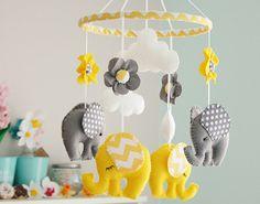 Baby Mobile Mobile grigio giallo elefante Mobiles vivaio