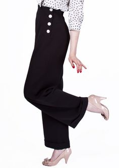 1940s Swing Trousers - Black