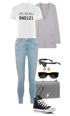 """""""940121 = Kang Seungyoon"""" by foreverforbiddenromancefashion ❤ liked on Polyvore featuring Michael Kors, Frame Denim, Converse, Ray-Ban and Tiffany & Co."""