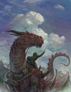 m Barbarian Medium Armor Shield Sword male adult Dragon Mount lg Dragon Knight, Dragon Rider, Dragon Warrior, Fantasy Concept Art, Fantasy Artwork, Fantasy Creatures, Mythical Creatures, Dragon Medieval, Dragon Artwork