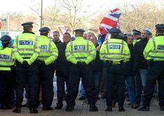 Around 40 neo nazis in #Preston heavily outnumbered by cops #antifa #Preston