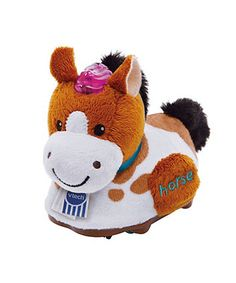 With fun sounds, music and soft fur, the Vtech Toot-Toot horse will stimulate the senses and provide hours of fun for little ones!