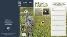 Beaver Creek State Natural Area birding checklist, by the Oregon State Parks and Recreation Department