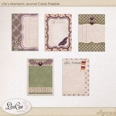 FREE FB Freebie Life's Moments Journal Cards