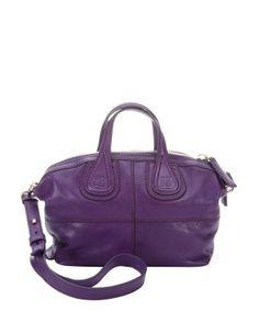 Givenchy : purple leather 'Nightingale' convertible mini satchel