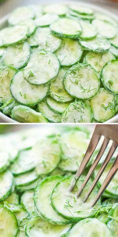 Cucumber Recipes, Salad Recipes, Juice Recipes, Top Recipes, Vegetarian Recipes, Cooking Recipes, Healthy Recipes, German Cucumber Salad, Healthy Snacks