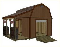 12X16 Shed Plans | Barn Shed Plans, Small Barn Plans, Gambrel Shed Plans