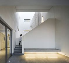 Image 13 of 23 from gallery of Wind Tower / AGi Architects. Courtesy of AGi architects Architecture Art Design, Residential Architecture, Agi Architects, Stone Interior, Reinforced Concrete, Home Projects, Tower, Stairs, Gallery