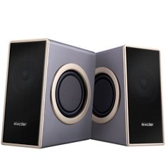 Home Computer Speaker,Mixcder MSH169 USB 2.0 Powered Surround Bass Multimedia Speaker with Enhanced Drivers, Volume Control, 4 Single Diaphragm, 3.5mm Audio Jack for PC, MP3, MP4, Cell Phone, iPad