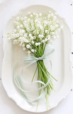 Lily of the Valley Bouquet - Read more on One Fab Day: http://onefabday.com/one-flower-bridal-bouquets/?utm_source=Subscriber%20Email%20List