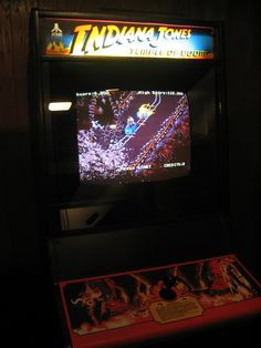 Indiana Jones and the Temple of Doom arcade game made by Atari
