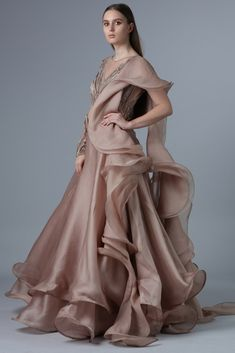 Gaurav Gupta Latest Evening Gowns And Their Prices - Indian Gowns Dresses, Indian Fashion Dresses, Indian Designer Outfits, Indian Designers, Fashion Outfits, Stylish Dress Designs, Stylish Dresses, Designer Party Wear Dresses, Designer Wear