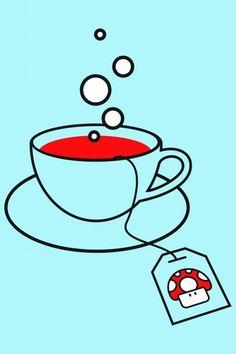Poster - Chá com Mario Bros