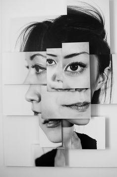 Portraits morcelés - Le accattivanti photo-sculptures di Brno Del Zou | Collater.al