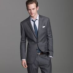 J. Crew: Ludlow two-button suit jacket with double-vented back in worsted wool