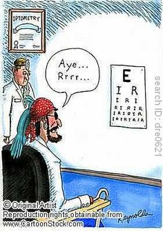 sight charts cartoons
