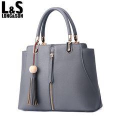 Long Son Designer Brand Handbag Leather Women Top-Handle Bag Ladies Fashion Handbags Shoulder Bag Female Tassel Totes WB094