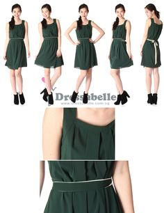 Dresses in moss green are <3!