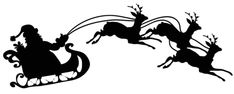 Santa Silhouettes PNG Clipart Picture