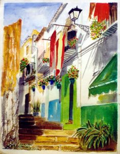 pinturas barrio santa cruz alicante - Buscar con Google Alicante, Fair Grounds, Fun, Painting, Google, Santa Cruz, Watercolor Painting, Dibujo, Scenery