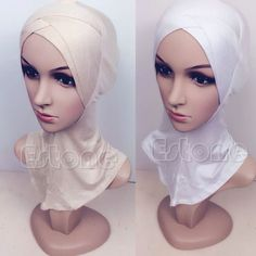 Muslim-cotton-full-cover-inner-hijab-cap-islamic-head-wear-hat-underscarf-colors