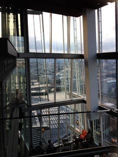 Looking west from Aqua restaurant at The Shard, London (floor 32).
