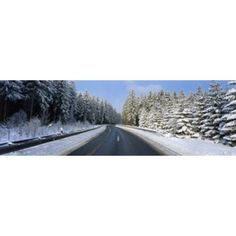 Road Hochwald Germany Canvas Art - Panoramic Images (36 x 12)