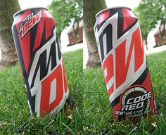 mt dew tall cans | Designs on Mountain Dew Code Red 24 oz Can