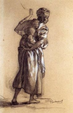 Femme et enfant algériens by Gustave Achille Guillaumet