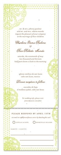 Spanish Style Wedding Invitations ~ Feliz