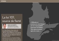 La loi 101, source de fierté - La Presse+ Conscience Collective, Les Accents, Aim High