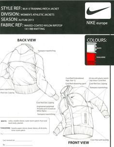 Fashion Illustration Design Nike Europe: Tech Pack by Eduardo Labohemia, via Behance -