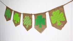 Shabby St Patrick's Day Shamrock Bunting by by SweetCarolineHome, $25.00