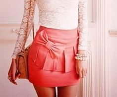 Skirt with a bow