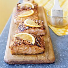 Maple Grilled Salmon courtesy of Cooking Light