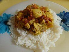 Recette de poulet au coco et curry