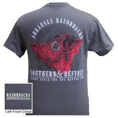 Arkansas Razorbacks Hogs Southern & Refined Bright T Shirt | SimplyCuteTees