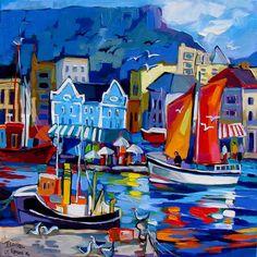 Artwork of Isabel le Roux exhibited at Robertson Art Gallery. Original art of more than 60 top South African Artists - Since Caribbean Art, South African Artists, Funky Art, Water Art, Z Arts, Sea Art, Fabian Perez, Art Nouveau, Art Deco