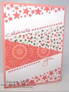 Stampin' Up! ... handmade card ... Endless Birthday Wishes ... patterned papers ... triagle shapes ... zig zag across the page ... fab look!!