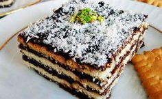 off çocukluğumun pastası bayılıyorum buna :D Greek Cooking, Food Cakes, Greek Recipes, Tiramisu, Ham, Cake Recipes, Grilling, Deserts, Cooking Recipes