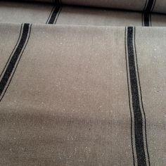SAMPLE Grain Sack Fabric Black Stripe On Dark Tan Vintage | Etsy Upholstered Arm Chair, Grain Sack, Dark Tan, Etsy Vintage, Black Stripes, Vintage Inspired, Fabric, Sacks, Upholstery