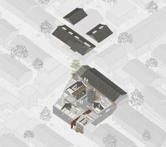 60 axonométricas de arquitectura residencial,White Pagoda Temple Hutong Courtyard Renovation / B. Java Architecture, Architecture Drawings, Concept Architecture, Architecture Graphics, Landscape Architecture, Axonometric View, Axonometric Drawing, Pagoda Temple, Technical Drawing