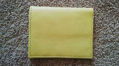 Yellow Wallet Men Fashion Wallet Hand Made Genuine Leather Bi Fold Debit/Credit Card Holder Wallet